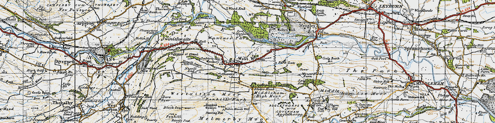 Old map of West Witton in 1947