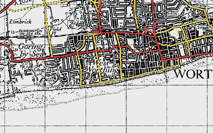 Old map of West Worthing in 1940