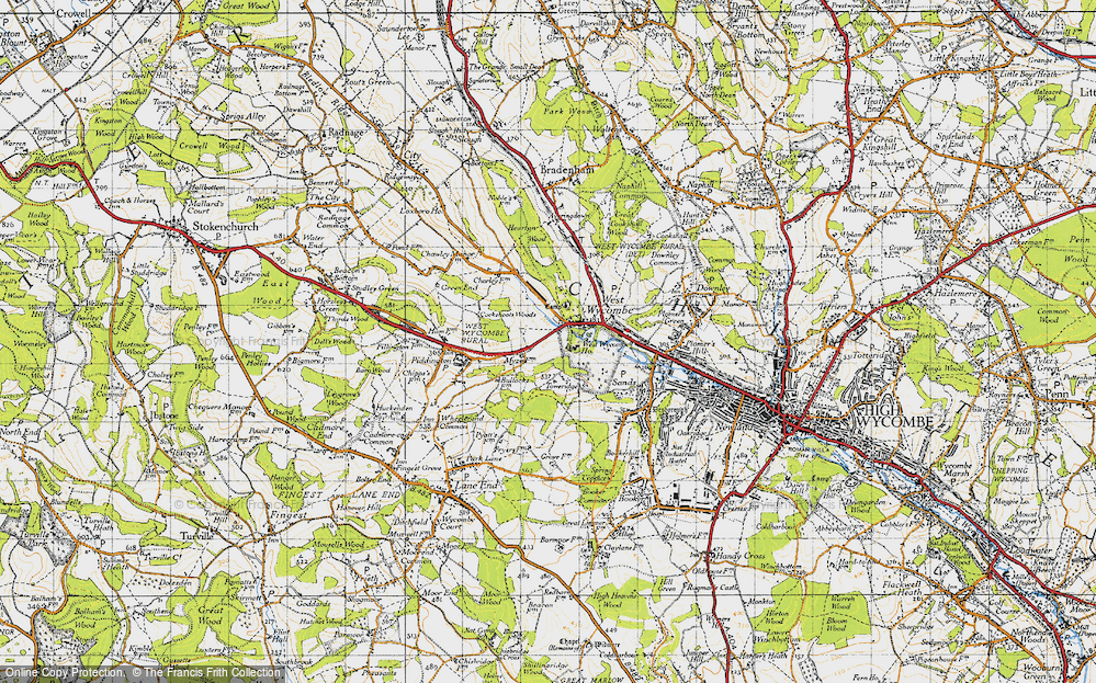 Old Map of West Wycombe, 1947 in 1947