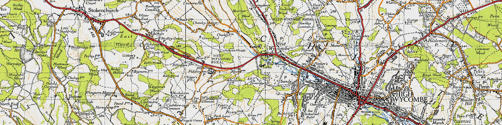 Old map of Windyhaugh Ho in 1947