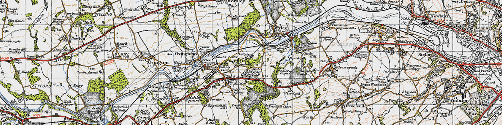 Old map of West Wylam in 1947