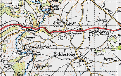 Old map of West Yatton in 1946
