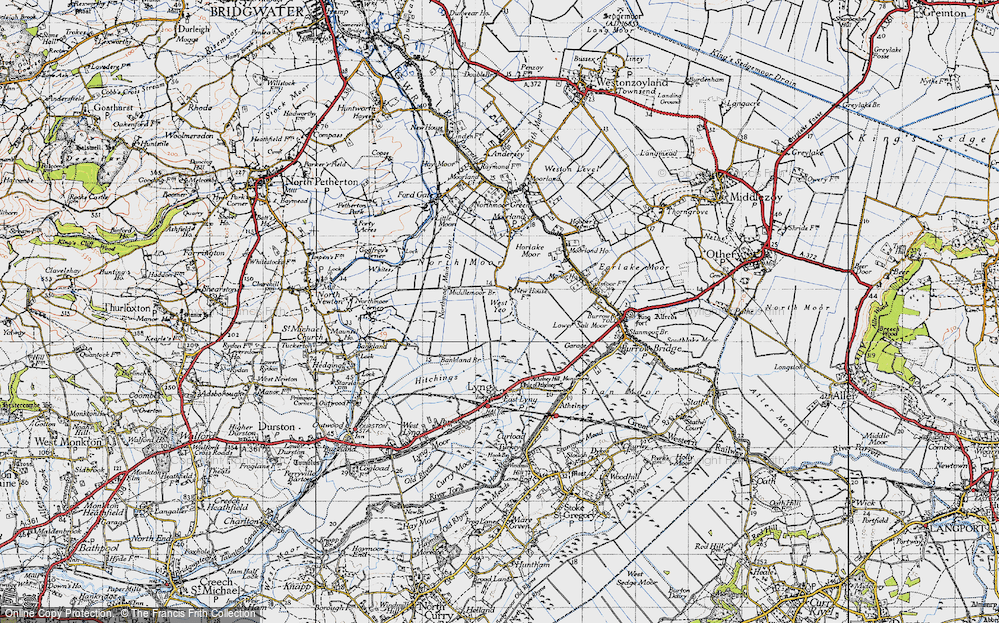 Old Map of West Yeo, 1945 in 1945