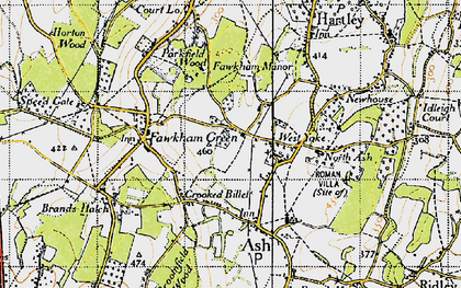 Old map of West Yoke in 1946
