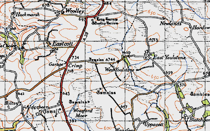 Old map of West Youlstone in 1946