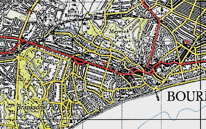 Old map of Westbourne in 1940