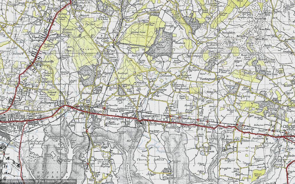 Old Map of Historic Map covering Aldsworth in 1945