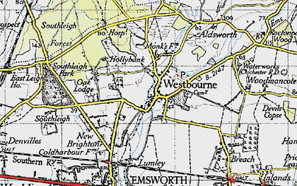 Old map of Aldsworth in 1945