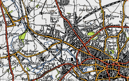 Old map of Westbourne in 1946