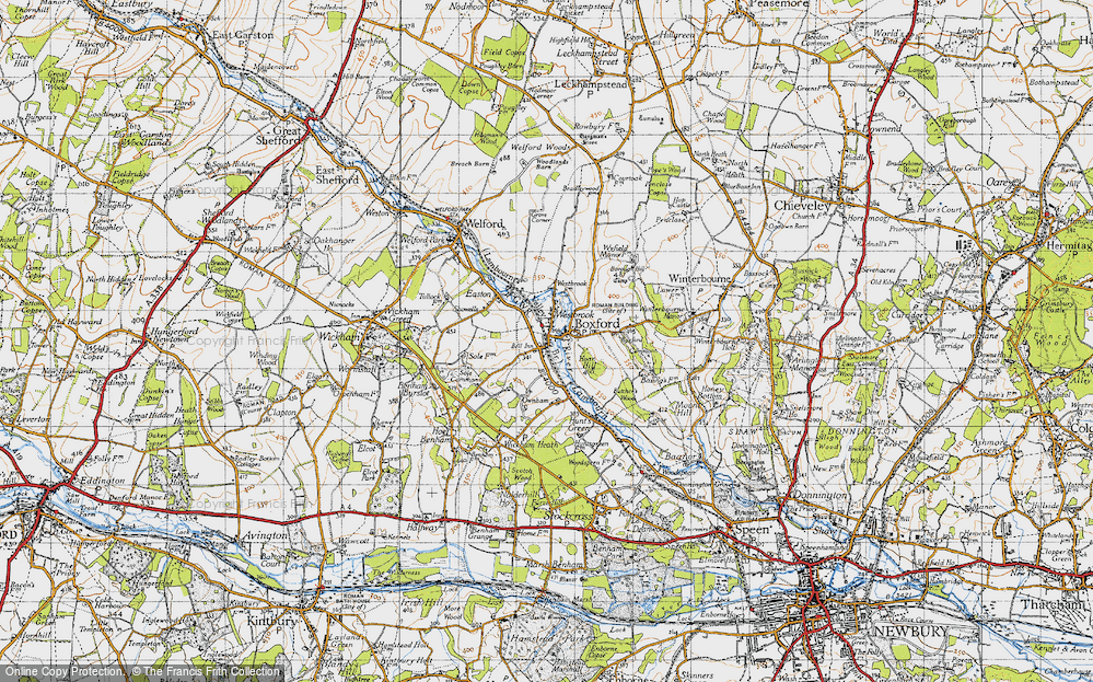 Old Map of Westbrook, 1945 in 1945