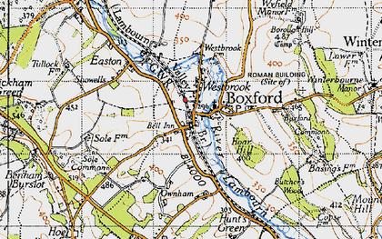 Old map of Westbrook in 1945