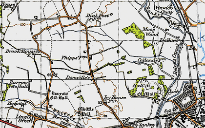 Old map of Westbrook in 1947