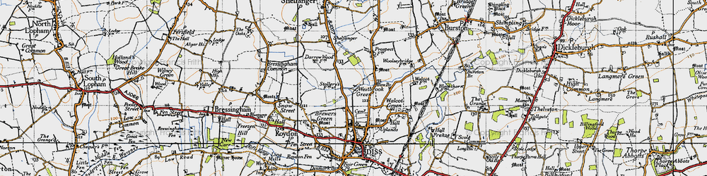 Old map of Westbrook Green in 1946