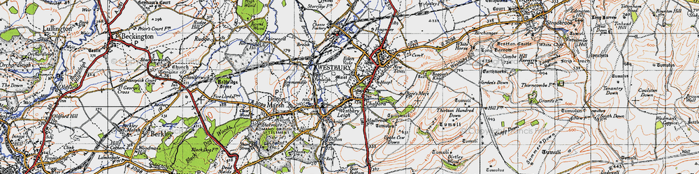 Old map of Westbury Leigh in 1946