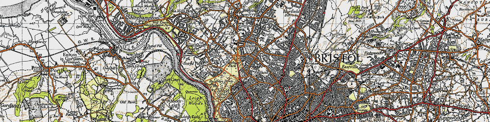 Old map of Westbury Park in 1946