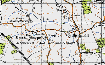 Old map of Westby in 1946