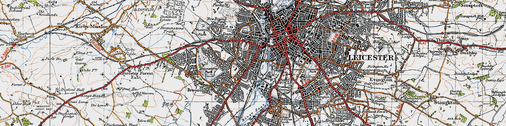 Old map of Westcotes in 1946
