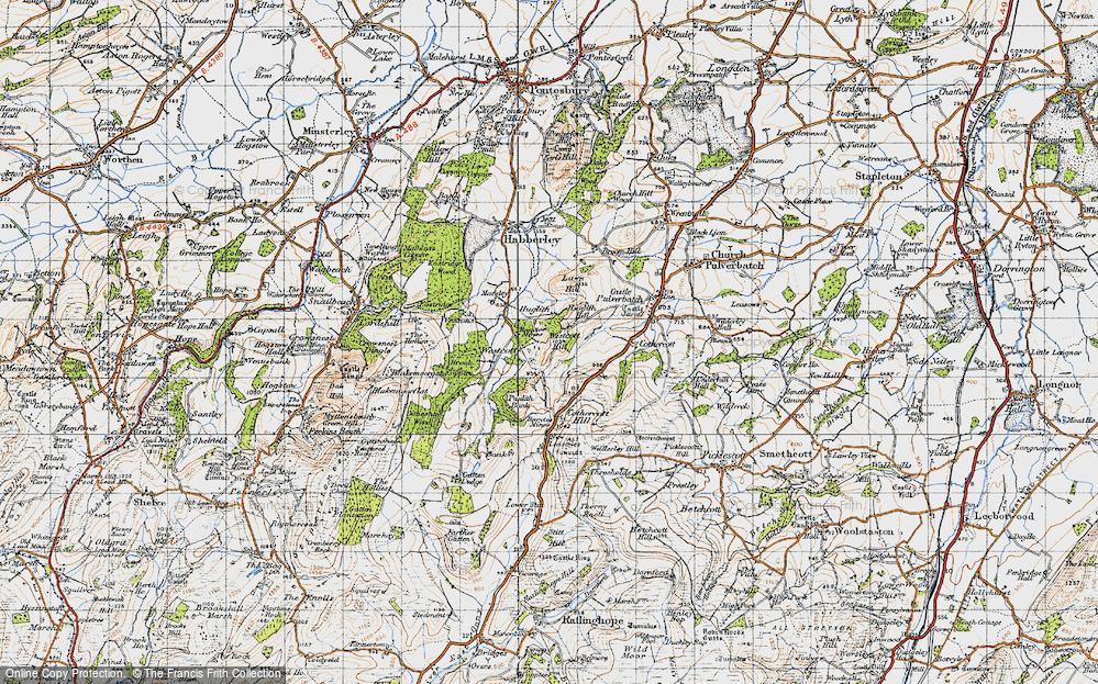 Old Map of Westcott, 1947 in 1947