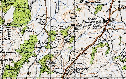 Old map of Westcott Hill in 1947