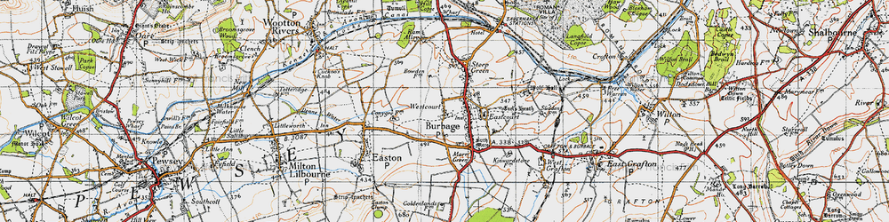 Old map of Westcourt in 1940