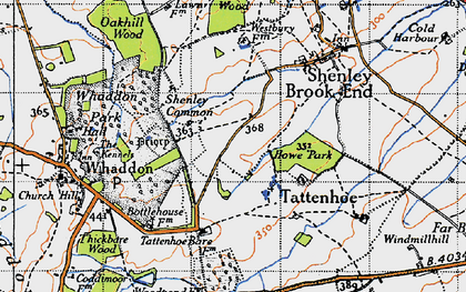 Old map of Westcroft in 1946