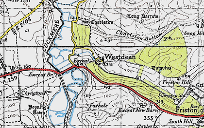 Old map of Westdean in 1940
