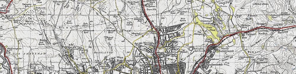 Old map of Westdene in 1940