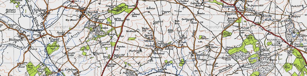 Old map of Westend in 1946