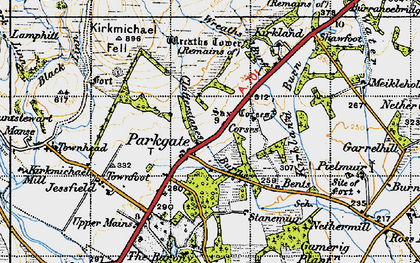 Old map of Wester Parkgate in 1947