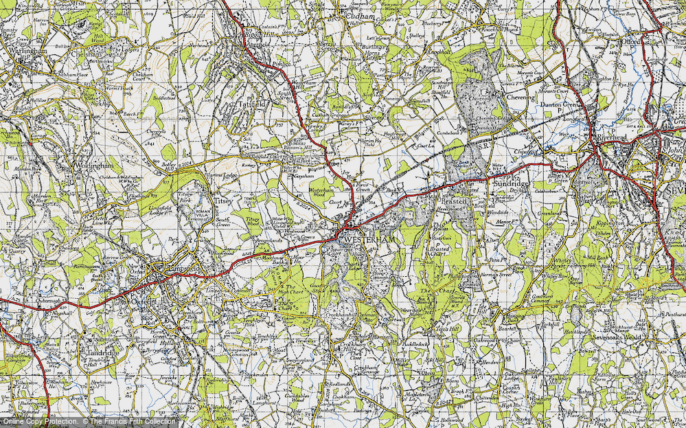 Old Map of Westerham, 1946 in 1946