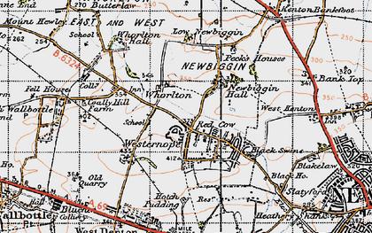 Old map of Westerhope in 1947