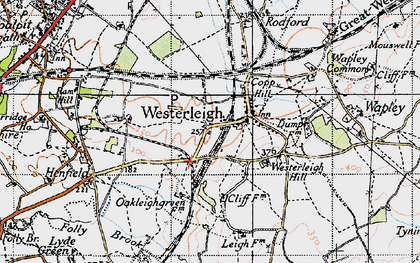 Old map of Westerleigh in 1946
