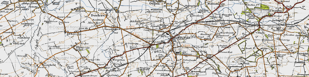 Old map of Western Bank in 1947