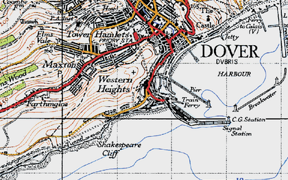 Old map of Western Docks in 1947