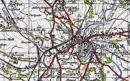 Old map of Arbour Ho in 1947
