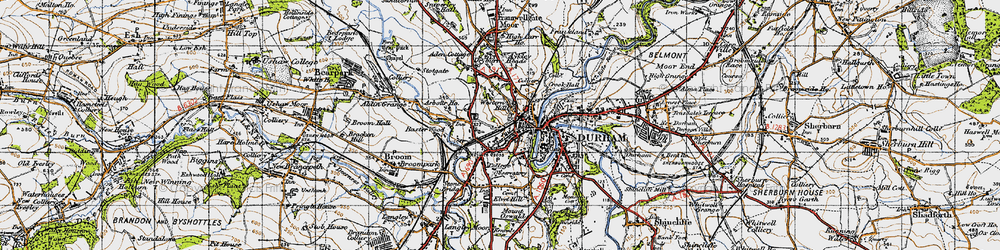 Old map of Western Hill in 1947