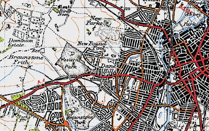 Old map of Western Park in 1946