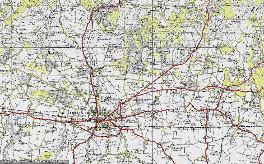 Old Map of Westerton, 1945 in 1945