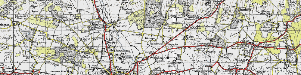 Old map of Westerton in 1945