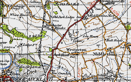 Old map of Westerton in 1947
