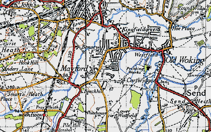 Old map of Westfield in 1940