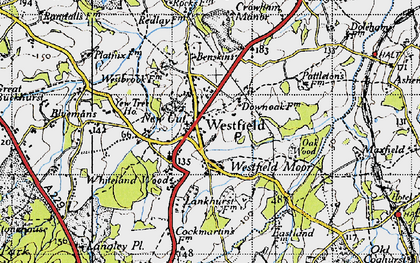 Old map of Whiteland Wood in 1940