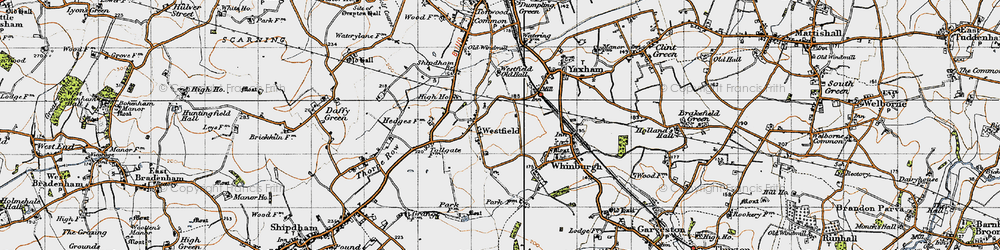 Old map of Westfield in 1946