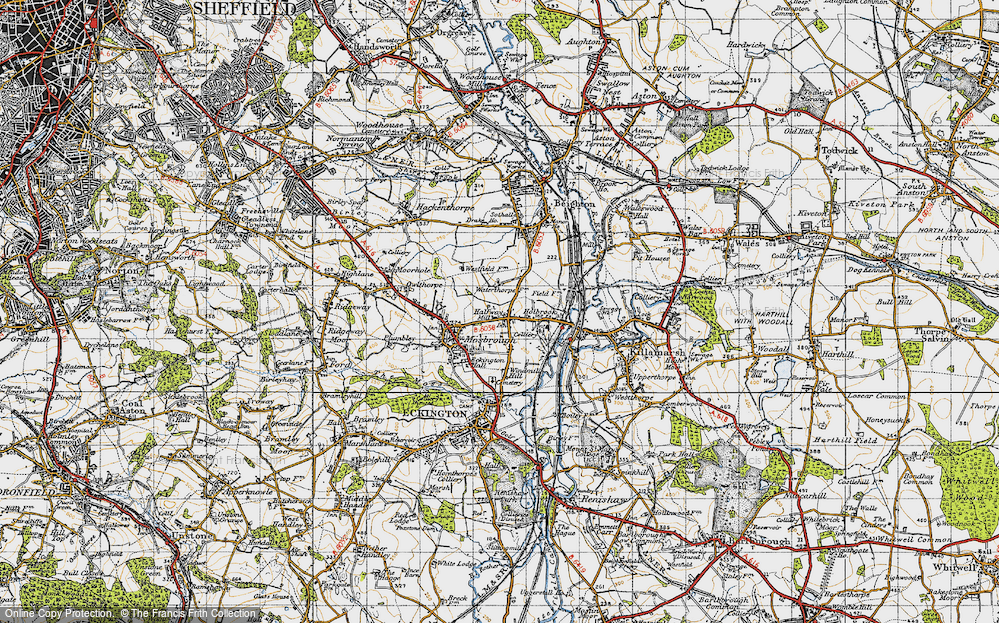 Old Map of Westfield, 1947 in 1947