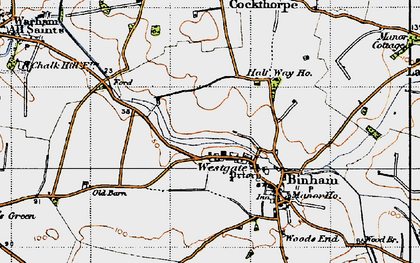 Old map of Westgate in 1946
