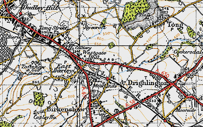 Old map of Westgate Hill in 1947