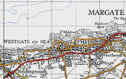 Old map of Westgate on Sea in 1947