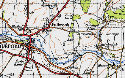 Old map of Westhall Hill in 1946