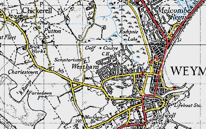 Old map of Westham in 1946
