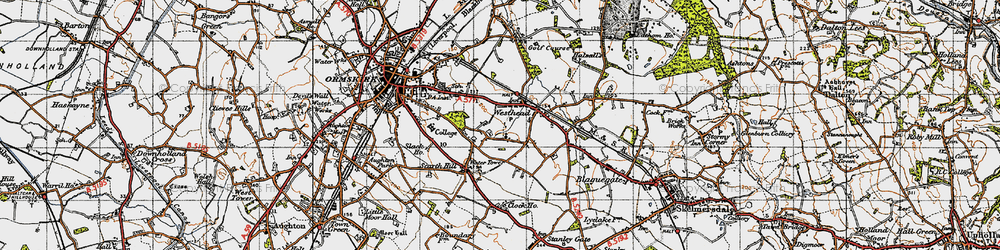 Old map of Westhead in 1947
